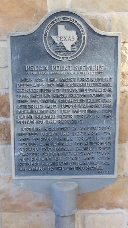 Pecan Point Signers Marker image. Click for full size.