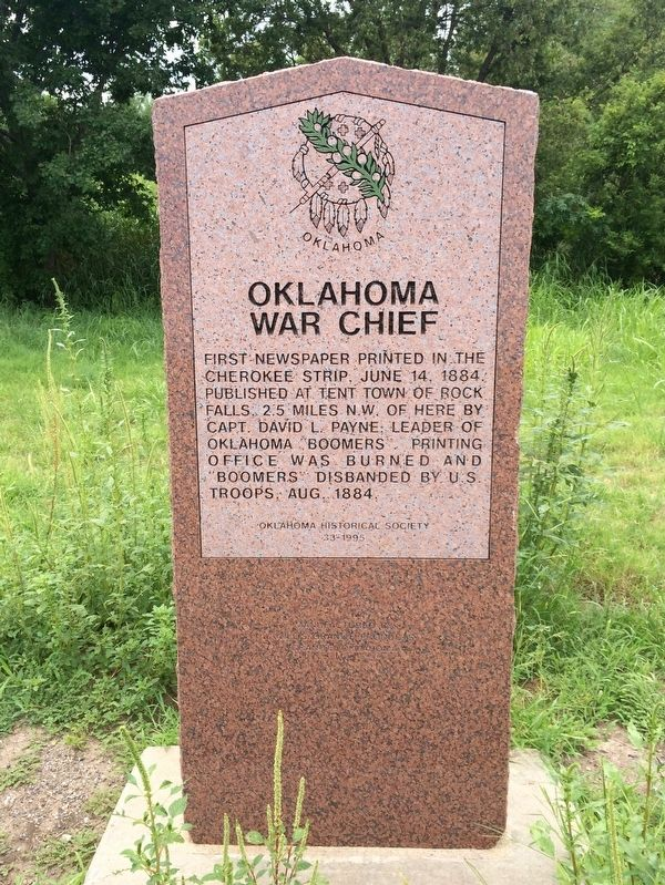 Oklahoma War Chief Marker image. Click for full size.