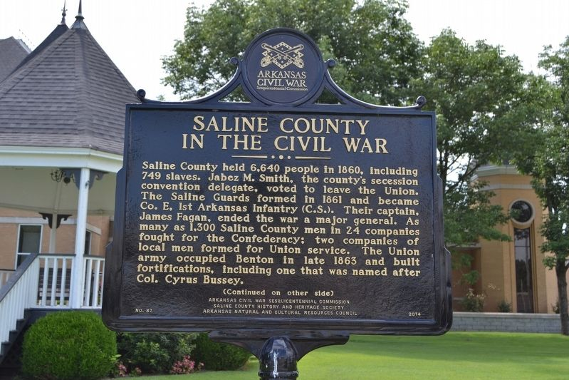 Saline County in the Civil War Marker image. Click for full size.