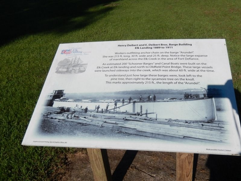 Henry Delbert and E. Delbert Bros. Barge Building Marker image. Click for full size.
