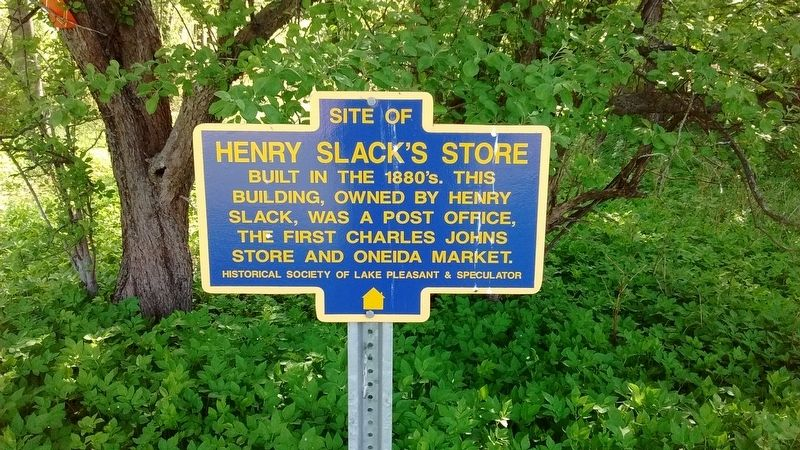 Site of Henry Slack's Store Marker image. Click for full size.