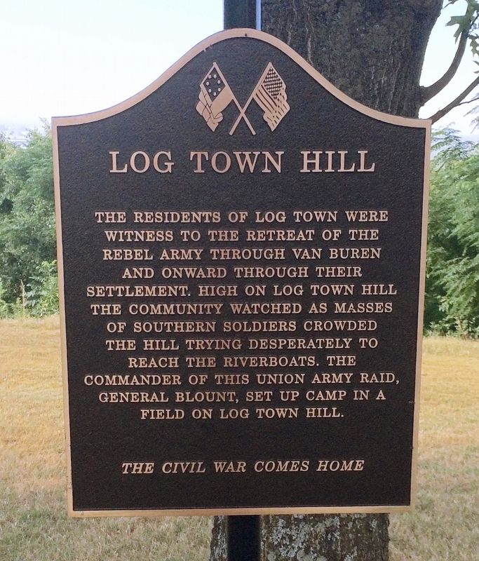 Log Town Hill Marker image. Click for full size.