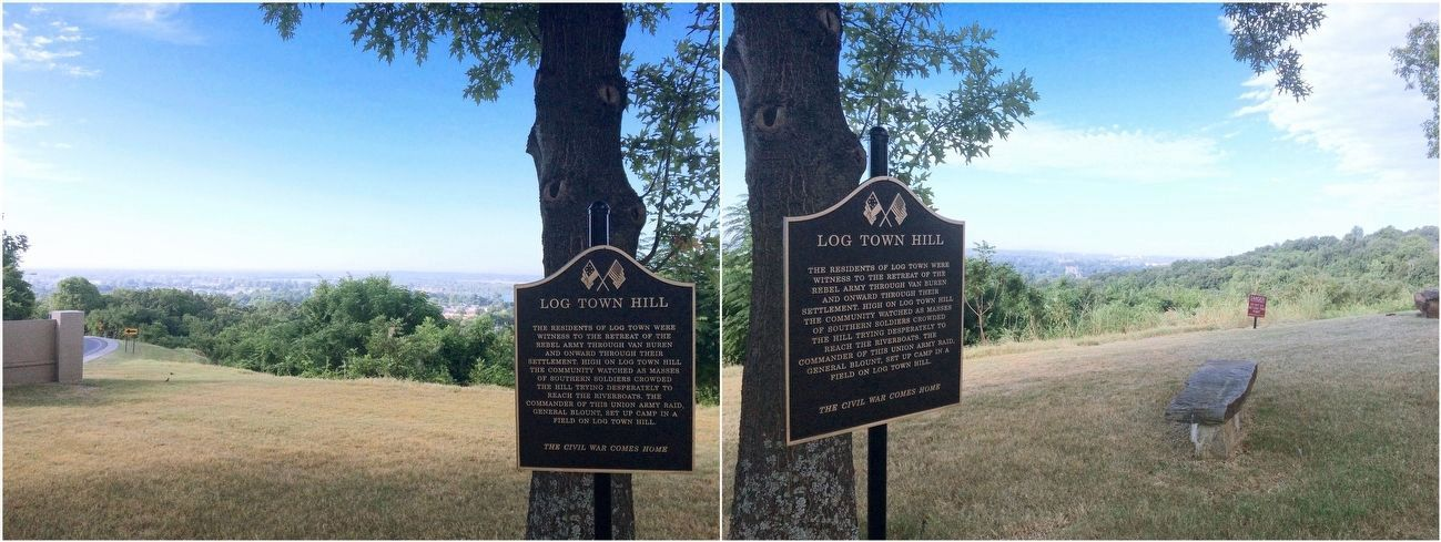 Views from Log Town Hill of areas mentioned on marker. image. Click for full size.