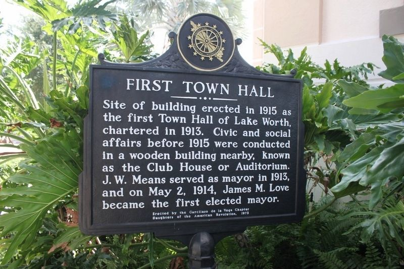 First Town Hall Marker image. Click for full size.