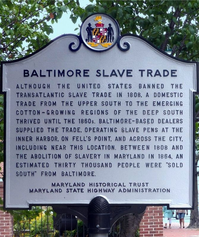 Baltimore Slave Trade Marker image. Click for full size.