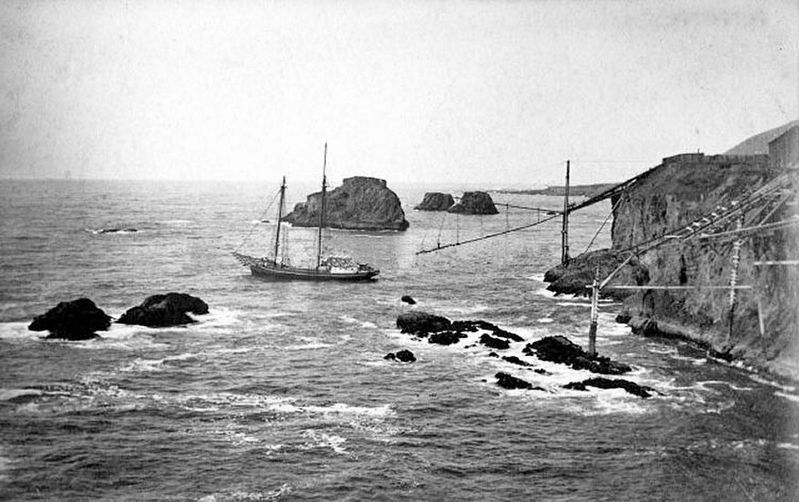 Loading lumber on the Mendocino Coast image. Click for full size.