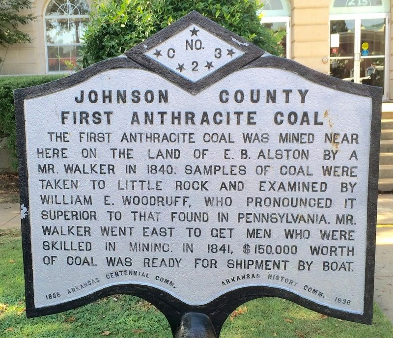 Johnson County First Anthracite Coal Marker image. Click for full size.