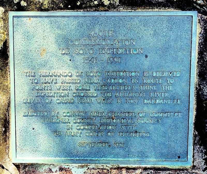450th Commemoration De Soto Expedition Plaque image. Click for full size.