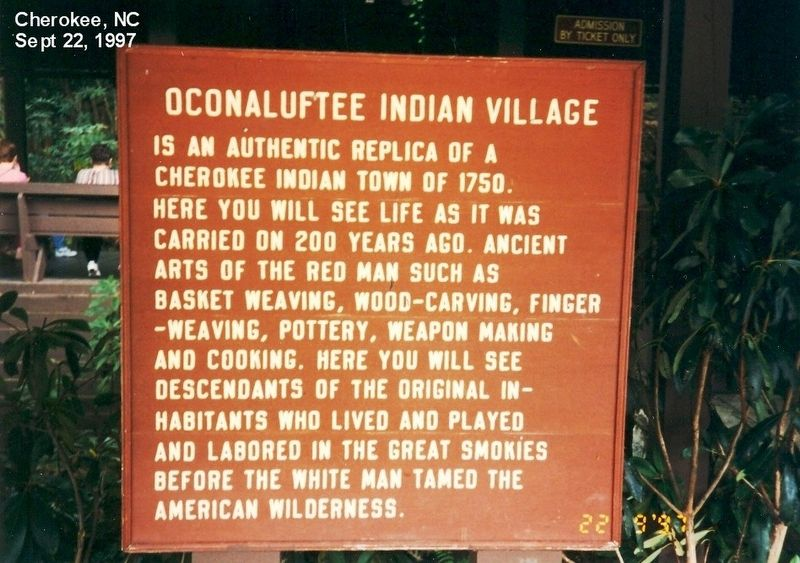 Oconaluftee Indian Village Marker image. Click for full size.