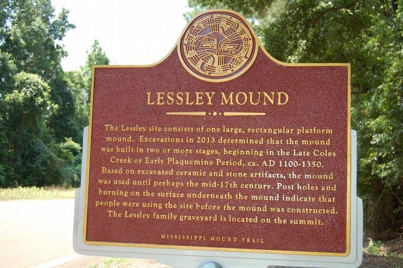 Lessley Mound Marker image. Click for full size.