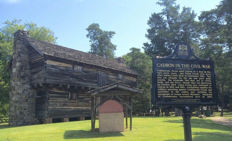 Cadron Blockhouse & oven. image. Click for full size.
