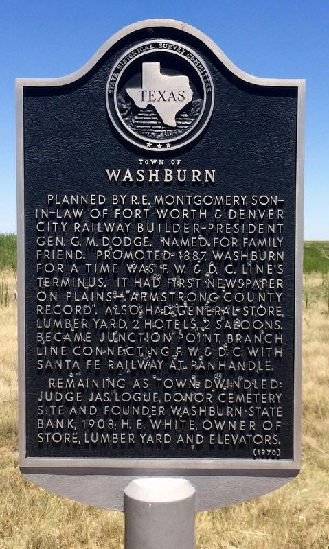 Town of Washburn Marker image. Click for full size.
