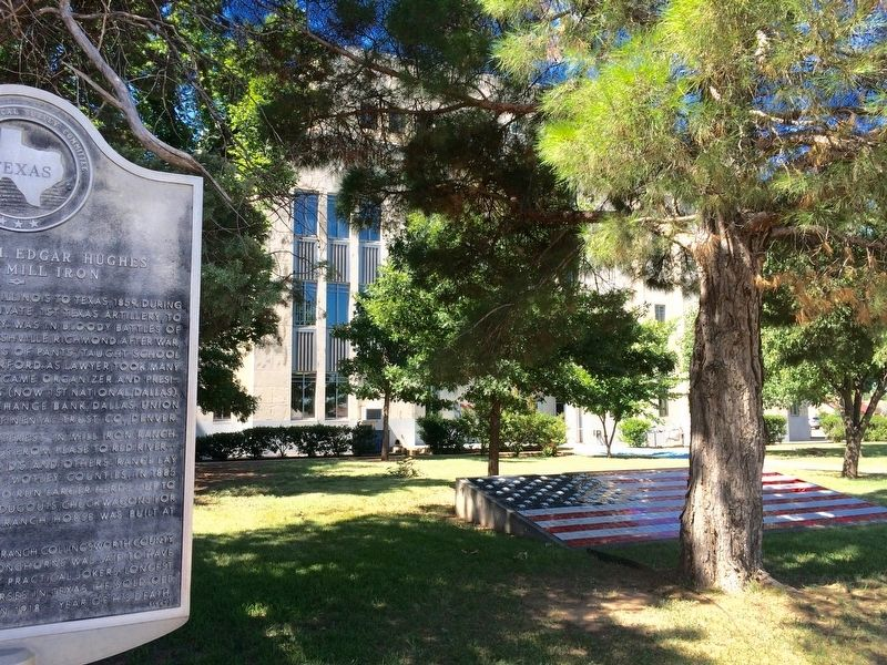 Marker near the Childress County Courthouse. image. Click for full size.