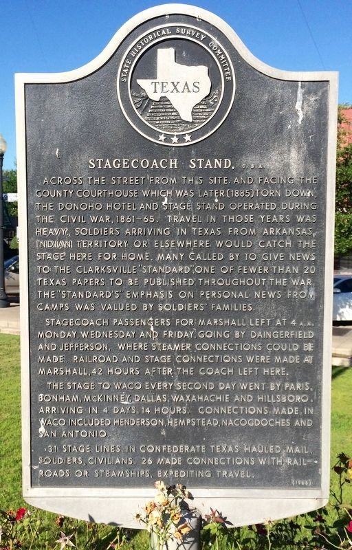 Stagecoach Stand, <small>C. S. A.</small> Marker image. Click for full size.