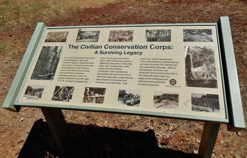 The Civilian Conservation Corps: A Surviving Legacy Marker image. Click for full size.