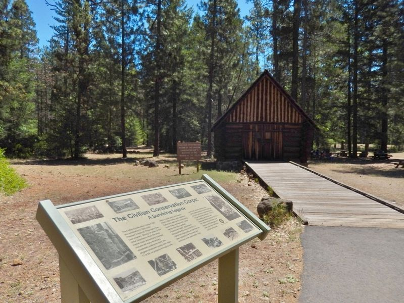 The Civilian Conservation Corps: A Surviving Legacy Marker (<i>wide view</i>) image. Click for full size.