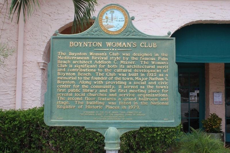 Boynton Woman's Club Marker image. Click for full size.