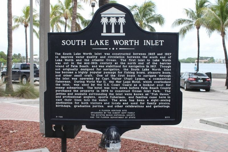 South Lake Worth Inlet Marker image. Click for full size.