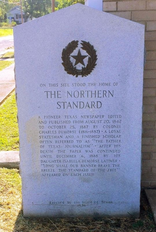 On this Site Stood the Home of The Northern Standard Marker image. Click for full size.