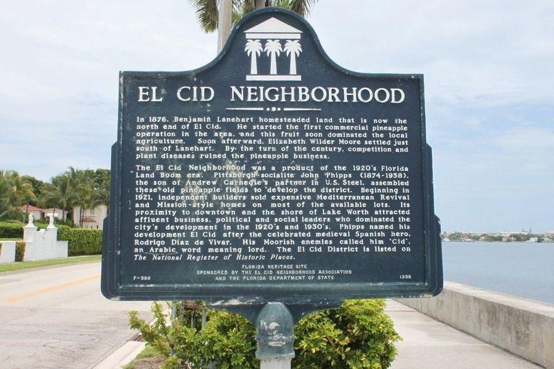 El Cid Neighborhood Marker image. Click for full size.