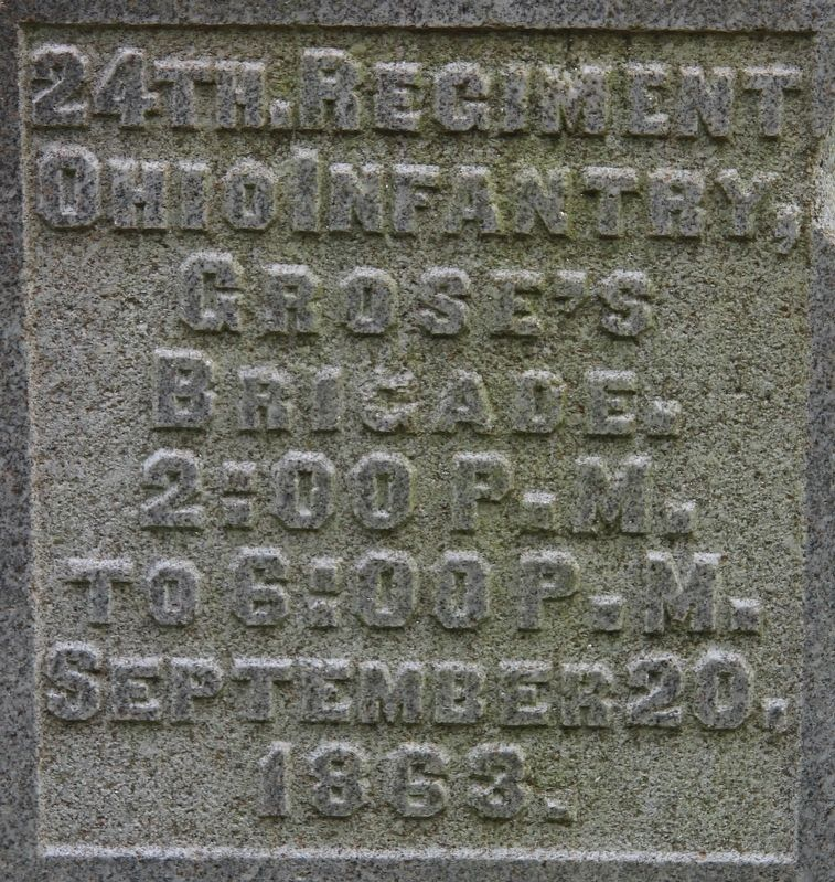 24th Ohio Infantry Marker image. Click for full size.