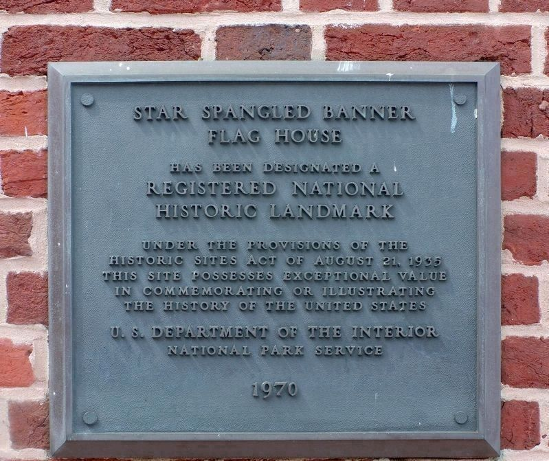 National Landmark Plaque image. Click for full size.