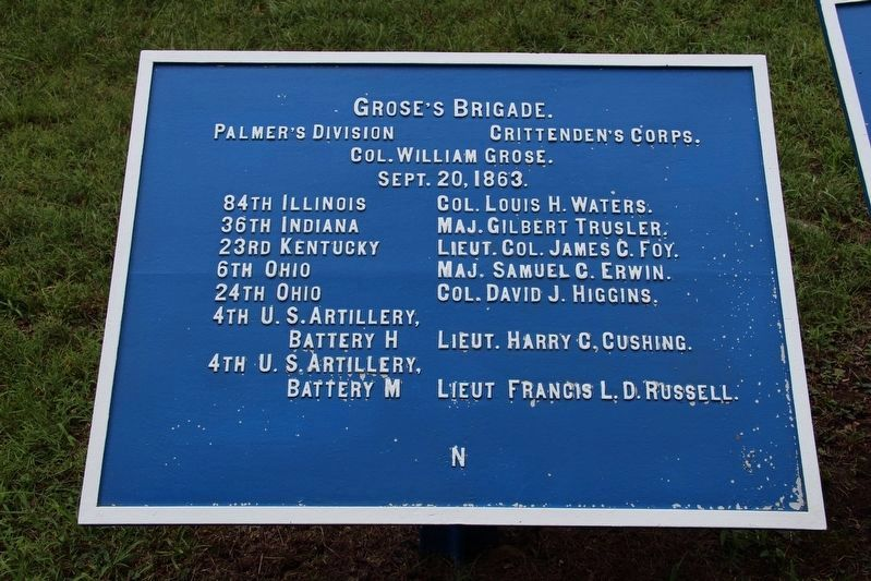 Grose's Brigade Marker image. Click for full size.