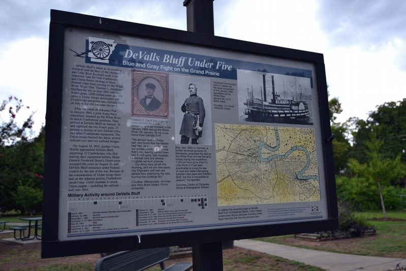 DeValls Bluff Under Fire Marker image. Click for full size.