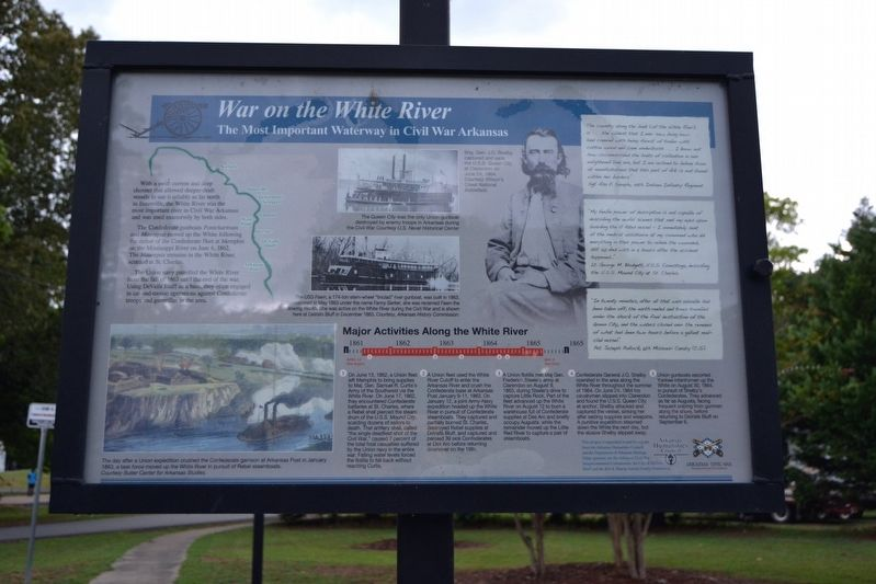 War on the White River Marker image. Click for full size.