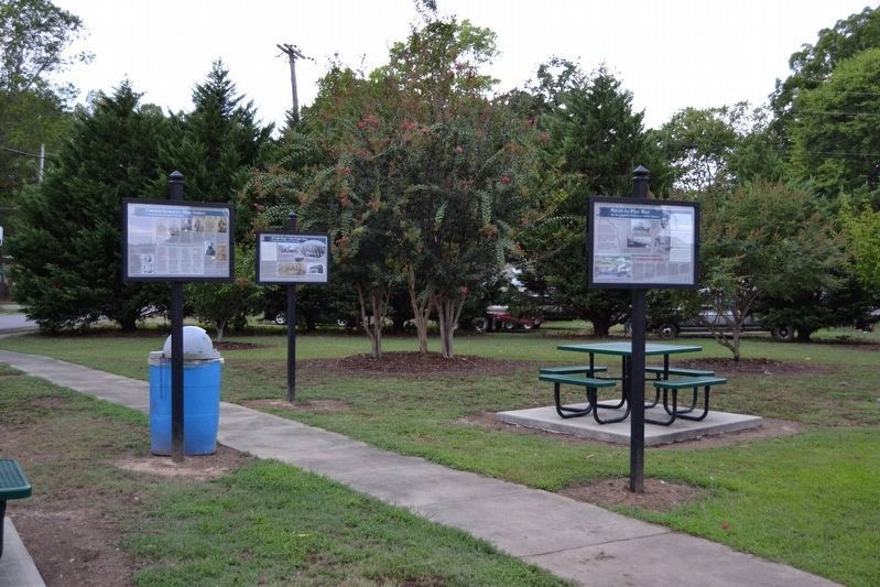 Civil War Interpretive Signs in the Center of Rhodes Park image. Click for full size.