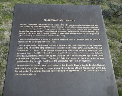 Tri-Territory Historic Site Marker image. Click for full size.