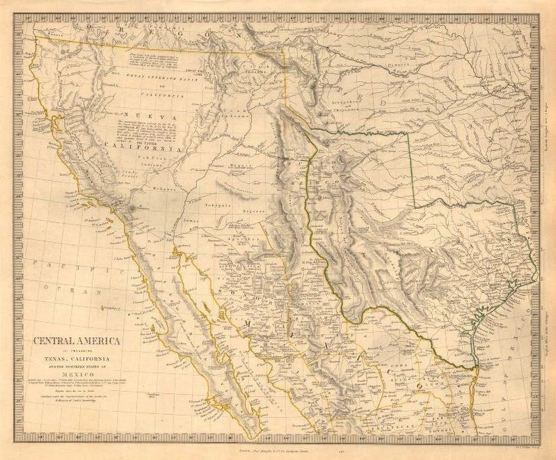 Contemporary map of Mexico and the Republic of Texas image. Click for full size.