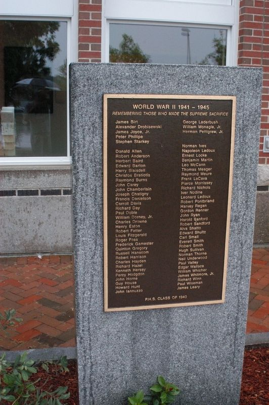 Portsmouth NH World War II Marker Marker image. Click for full size.