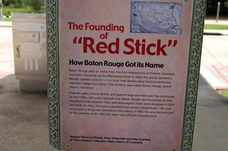 "The Founding of ""Red Stick"" Marker image. Click for full size."