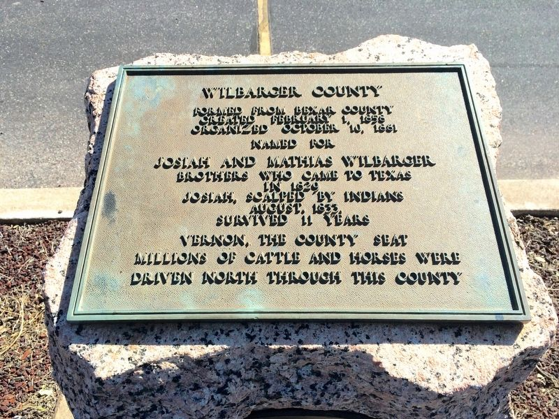Wilbarger County Marker image. Click for full size.