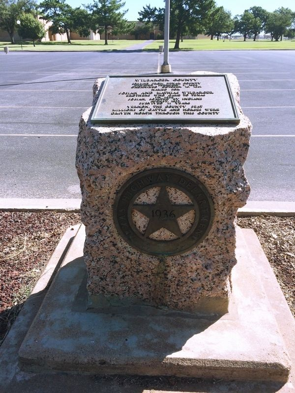 Wilbarger County Marker in parking lot of Red River Valley Museum. image. Click for full size.