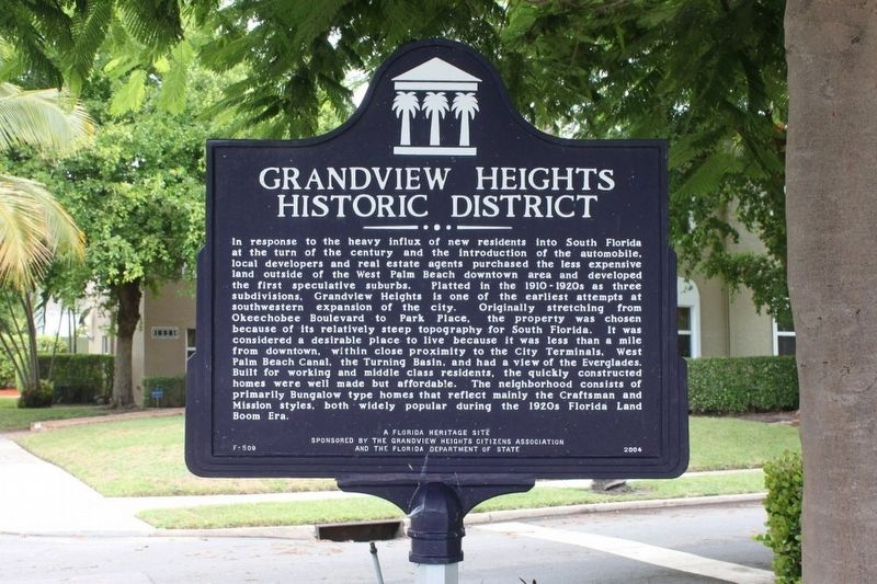 Grandview Heights Historic District Marker image. Click for full size.