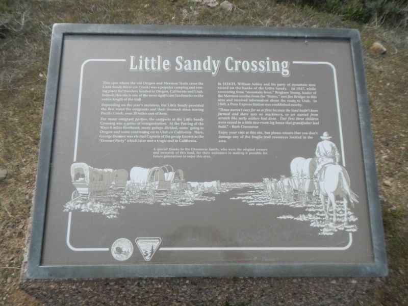 Little Sandy Crossing Marker image. Click for full size.