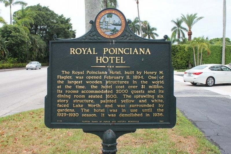 Royal Poinciana Hotel Marker image. Click for full size.