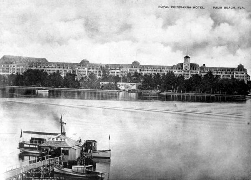 Royal Poinciana Hotel from across Lake Worth image. Click for full size.