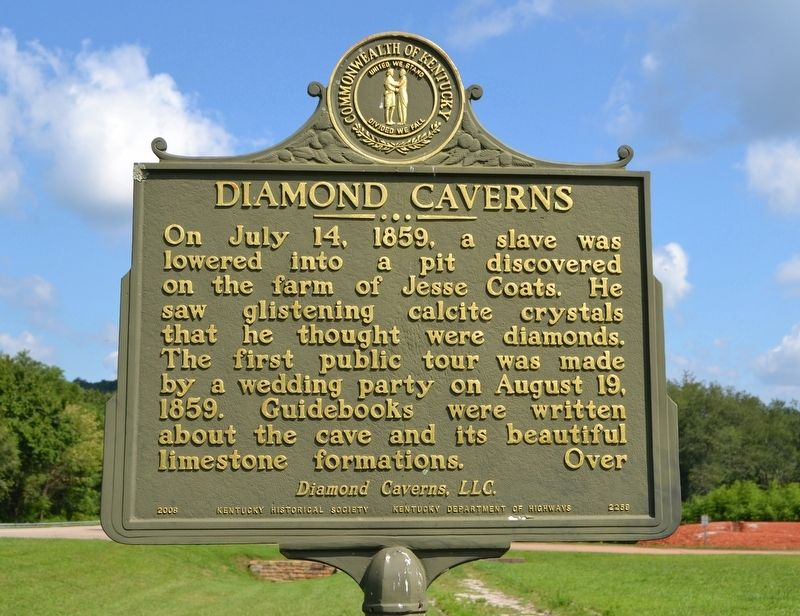 Diamond Caverns Marker image. Click for full size.