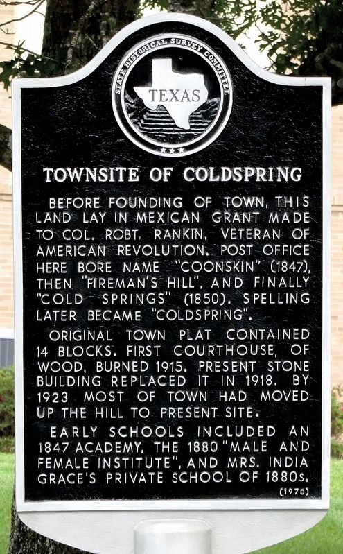 Townsite of Coldspring Marker image. Click for full size.