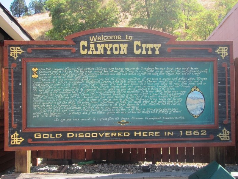 Welcome To Canyon City Marker image. Click for full size.