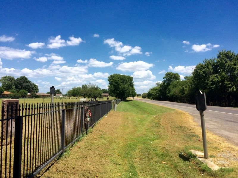 View of Diamond Horse Ranch Marker back towards downtown Whitesboro. image. Click for full size.