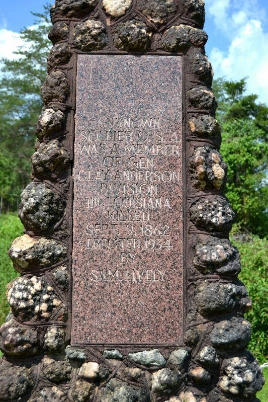 Unknown Confederate Soldier Monument Marker image. Click for full size.