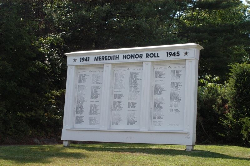 Meredith New Hampshire WWII Honor Roll Marker image. Click for full size.
