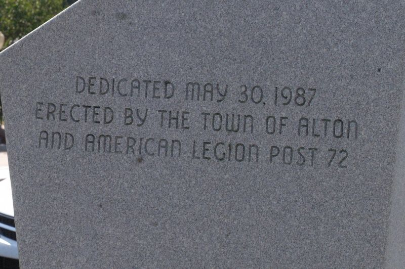 Alton New Hampshire Viet Nam Conflict Honor Roll Marker image. Click for full size.