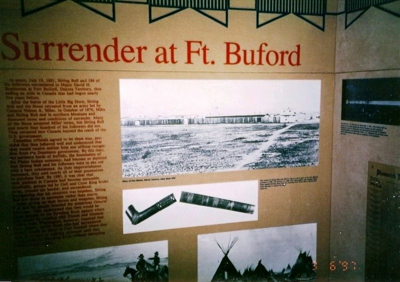Photo inside museum-Surrender at Fort Buford image. Click for full size.