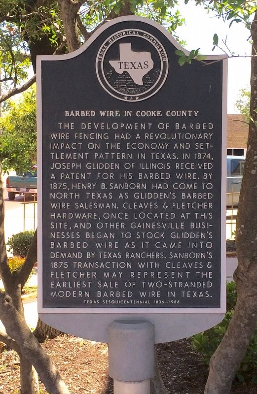 Barbed Wire in Cooke County Marker image. Click for full size.
