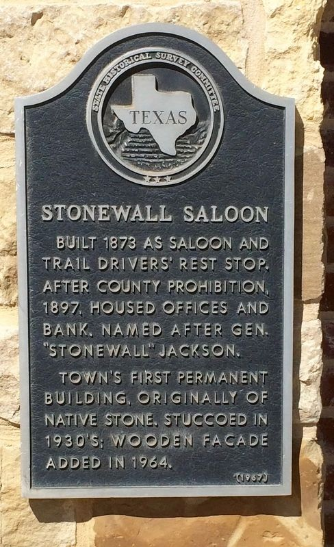 Stonewall Saloon Marker image. Click for full size.